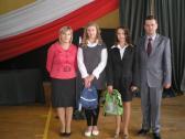 Uczennice Gimnazjum z Opatowca wyróżnione podczas  IV Wojewódzkiego Zakończenia Roku  Szkolnego 2011/12
