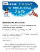 Ferie zimowe w Bibliotece w Opatowcu