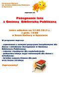 Pożegnanie lata z Gminną Biblioteką Publiczną w Opatowcu