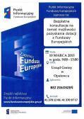 Bezpłatne konsultacje o mozliwości pozyskania Funduszy Unijnych
